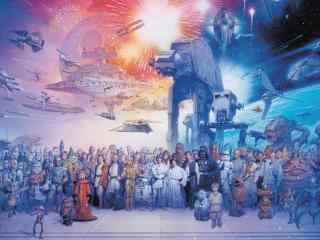 《星球大战外传:侠盗一号》全员手绘壁纸