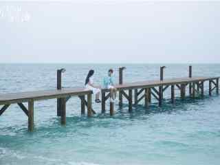 《那片星空那片海》唯美海边剧照
