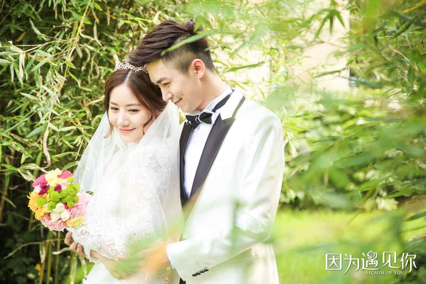 因为遇见你张雨欣陆思琛唯美婚照图片