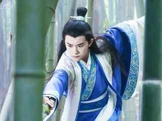 思美人竹林舞剑小屈原桌面壁纸