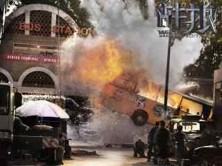 电影战狼2爆破现场海报壁纸