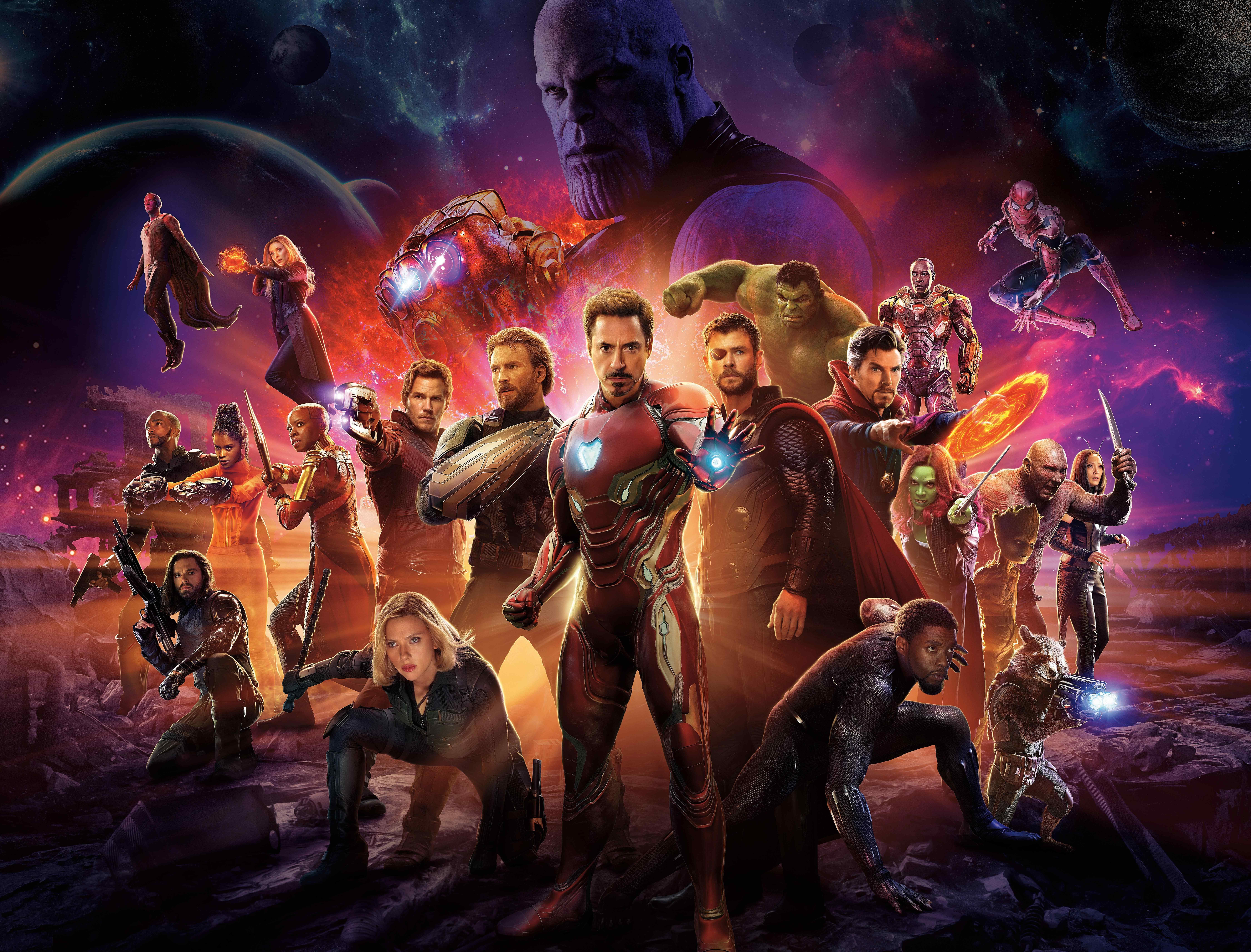 《复仇者联盟3:无限战争》钢铁侠领衔版桌面壁纸