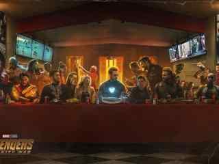 《复仇者联盟3:无限战争》最后的晚餐版桌面壁纸