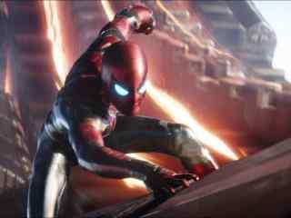 电影《复仇者联盟3》钢铁蜘蛛侠帅气高清剧照图片