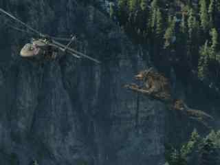 狂暴巨兽九米巨狼腾空飞天直捣直升机剧照