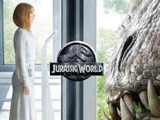 侏罗纪世界2与暴虐龙隔窗相望壁纸
