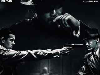 姜文电影《邪不压正》黑白复古海报图片