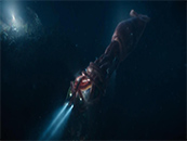电影巨齿鲨巨型深海章鱼剧照