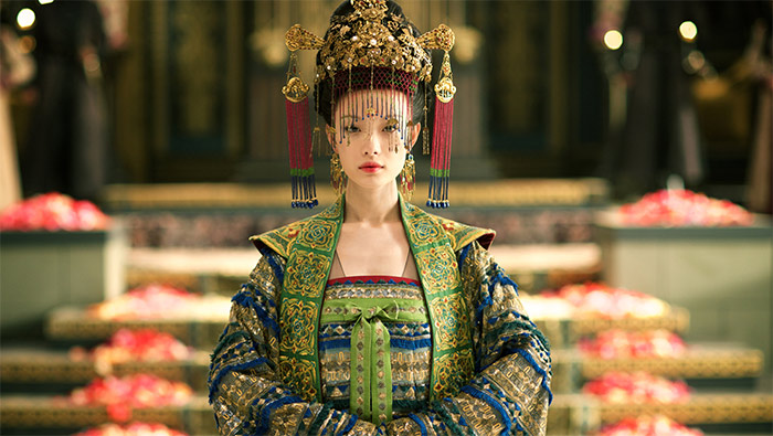 《天盛长歌》倪妮皇后造型美艳绝伦剧照图片