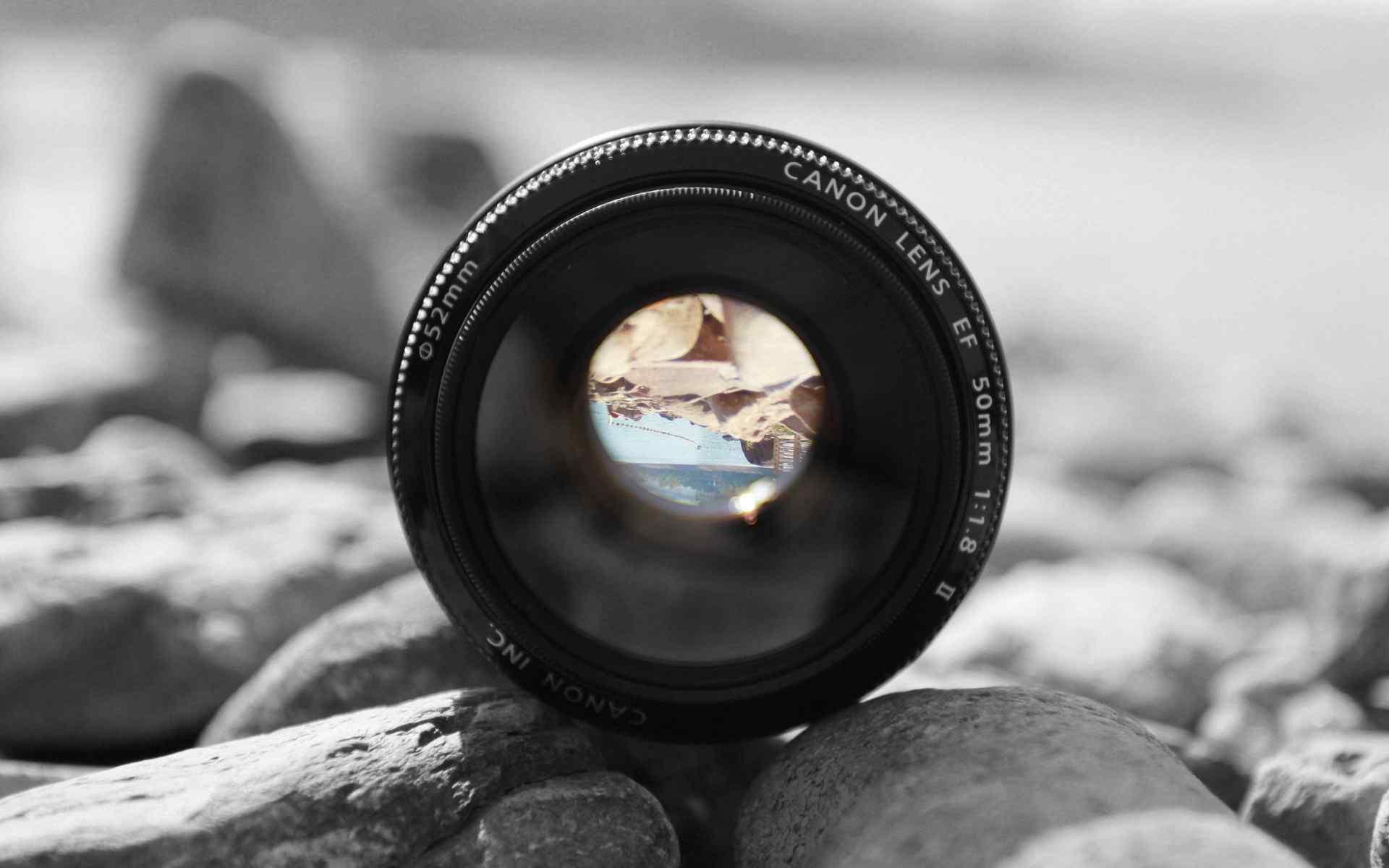 单反相机定焦镜头50mm海边风景唯美桌面壁纸