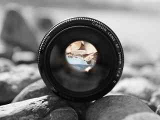 单反相机定焦镜头50mm海边风景唯美桌面
