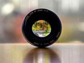单反相机佳能定焦镜头50mm风景唯美桌面壁纸