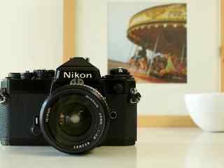 单反相机尼康胶卷相机唯美小清新桌面壁纸