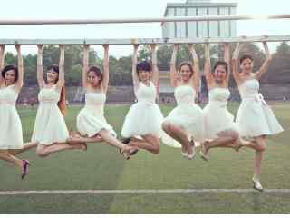 女生婚纱搞笑毕业照电脑高清桌面壁纸