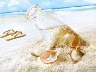 有趣的贝壳漂流瓶