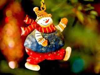 胖胖哒雪人玩偶桌面壁纸