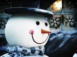 可爱的大雪人玩偶图片桌面壁纸
