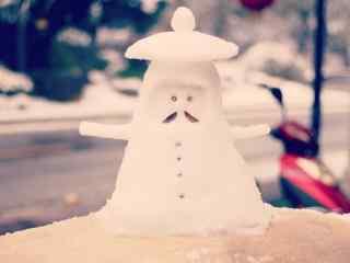 冬日创意小雪人图