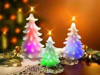 创意蜡烛圣诞树图
