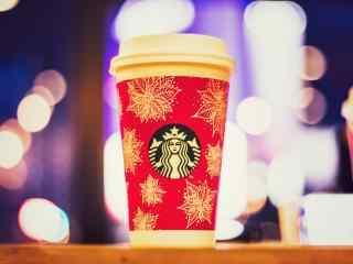 星巴克雪花杯冬季特制杯子高清图片桌面壁纸