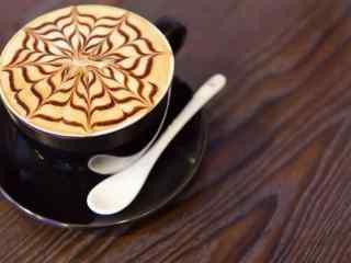 咖啡飘香唯美静物