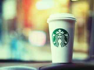 星巴克白色纸杯唯美图片桌面壁纸