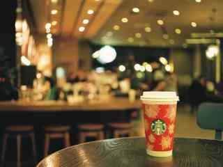 星巴克圣诞雪花杯图片桌面壁纸