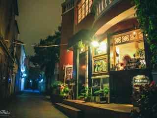 鼓浪屿街边小店夜