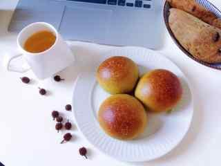 下午茶美味小面包图片高清桌面壁纸