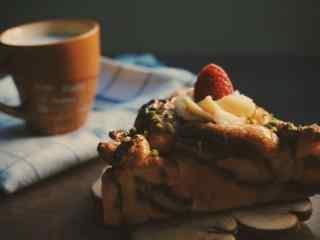 美味下午茶小面包图片高清桌面壁纸