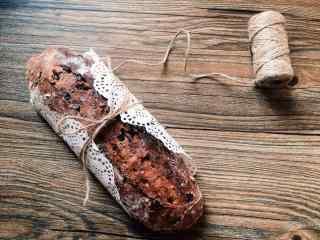 特色巧克力烤面包卷唯美图片美食壁纸