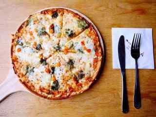 披萨图片创意静物摆拍壁纸