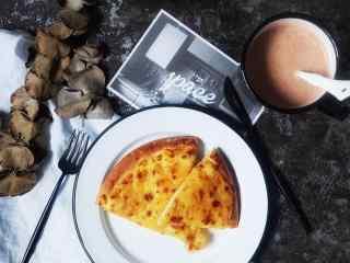 下午茶披萨图片唯美桌面壁纸