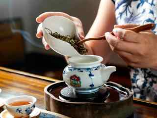 茶文化—一杯清茶泡制过程桌面壁纸