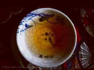 茶文化—鲤鱼陶瓷杯中的红茶桌面壁纸