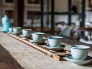 茶文化—特色陶瓷茶杯桌面壁纸