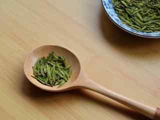 茶文化—小清新西湖龙井绿茶桌面壁纸