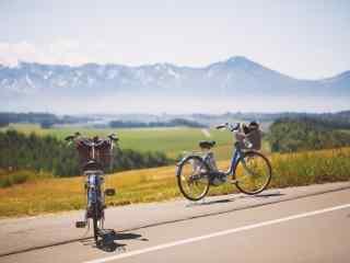 唯美小清新复古单车桌面壁纸