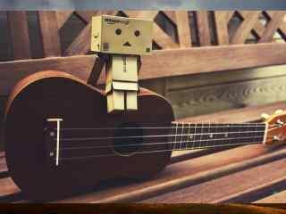 唯美吉他和纸盒人
