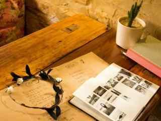咖啡小清新写真桌
