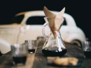 创意咖啡便签信桌面壁纸