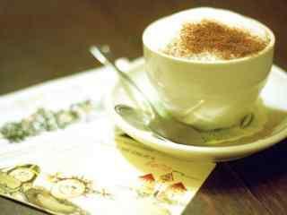 咖啡与明信片桌面壁纸