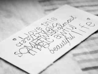 精美小清新手写信个性桌面壁纸