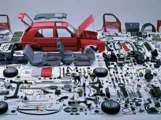 创意大众汽车模型设计壁纸