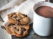 简单咖啡饼干唯美