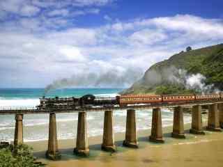 复古火车风景壁纸
