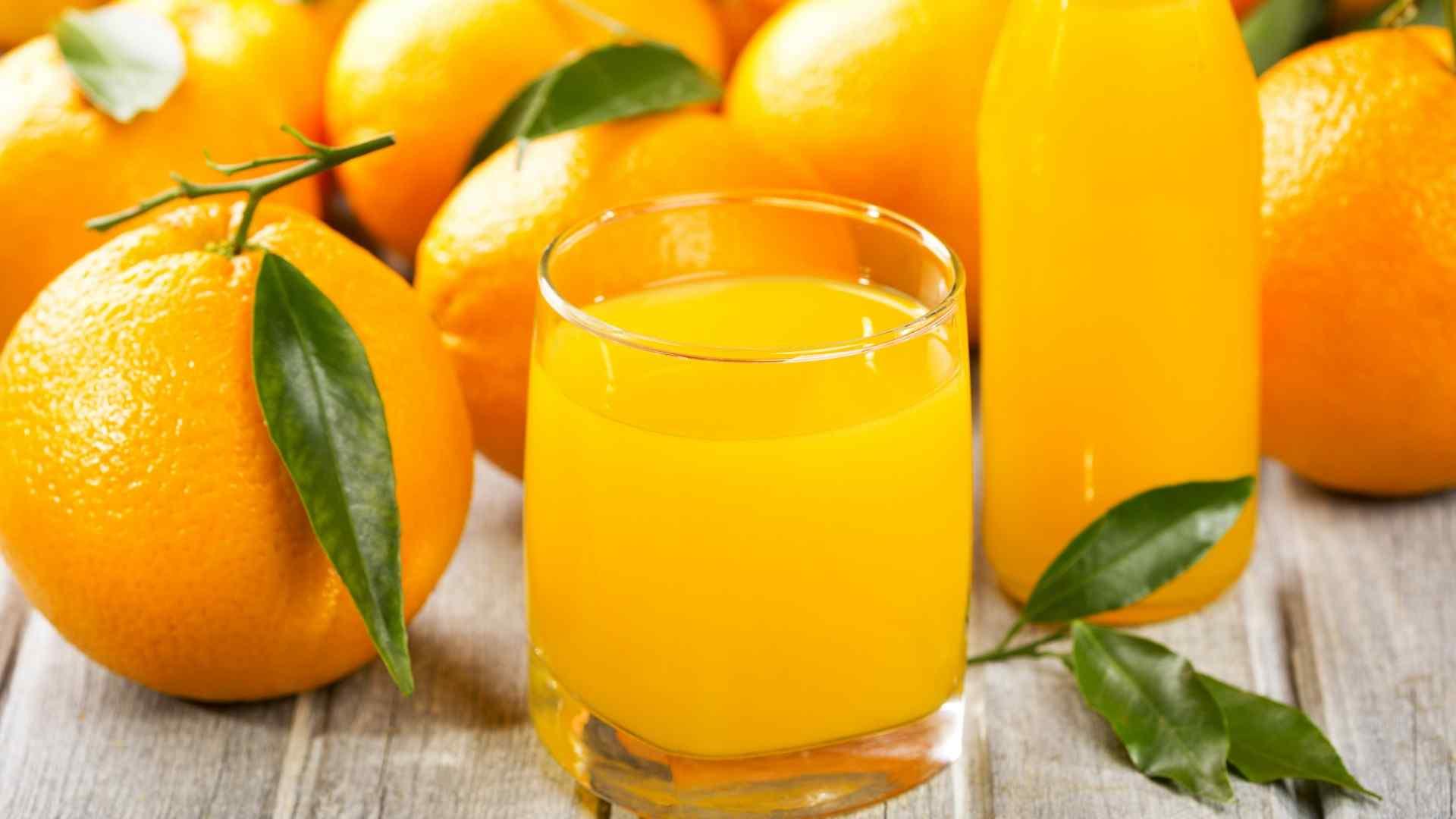 美味橙汁高清壁纸