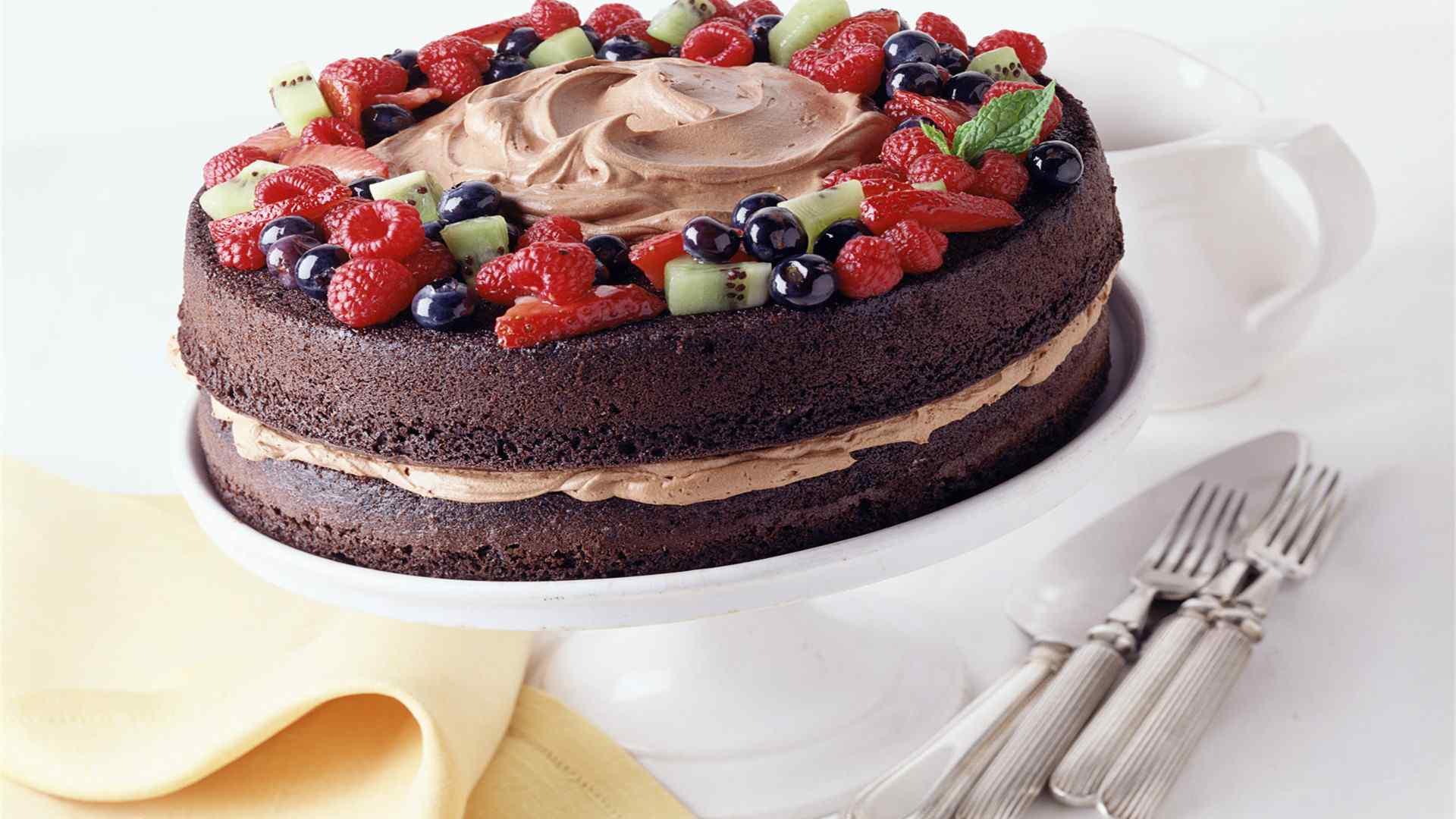 巧克力蛋糕诱人壁纸