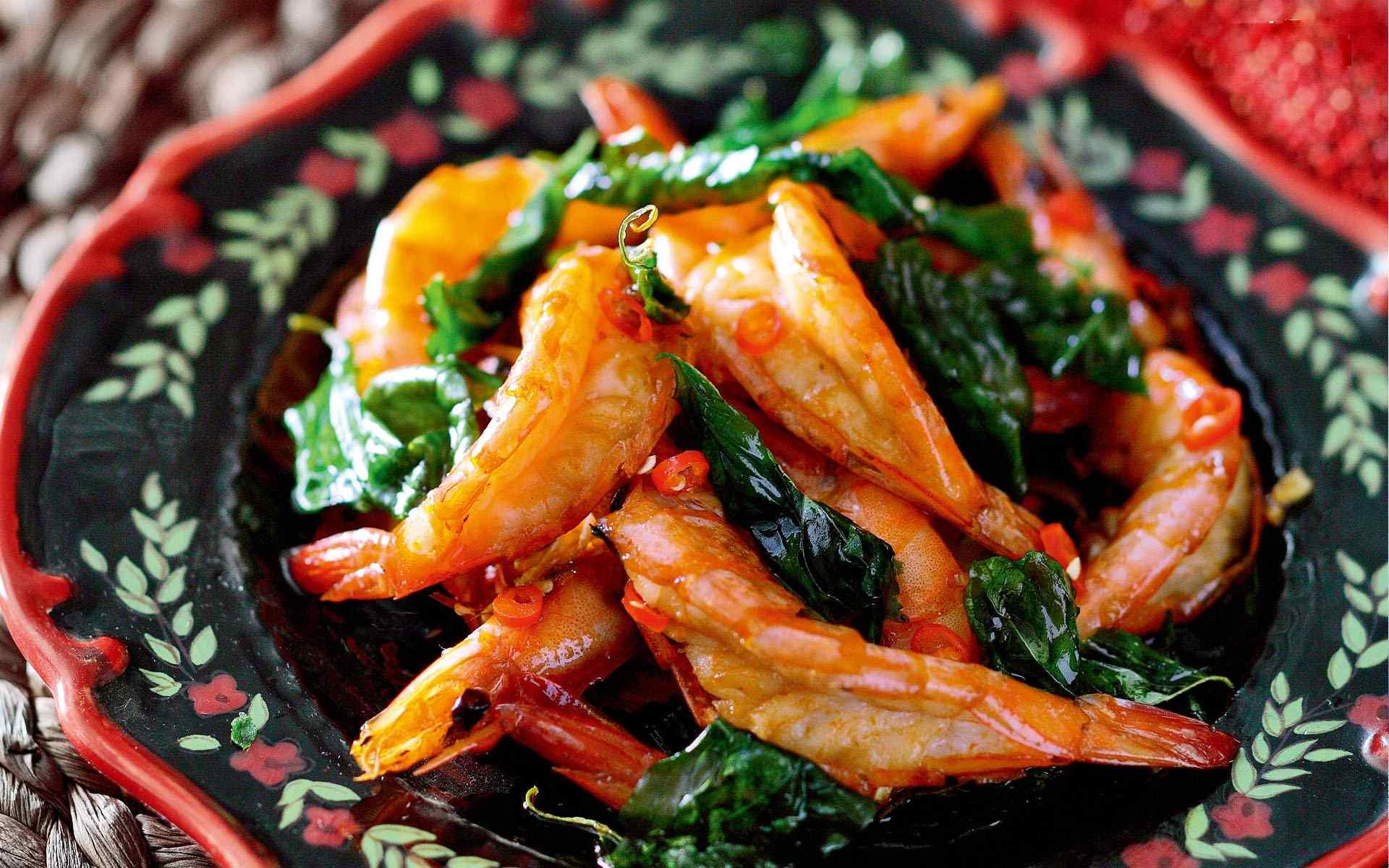 油炸小虾美食图片