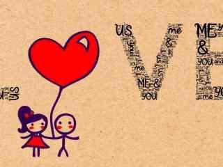 可爱love图片桌面壁纸
